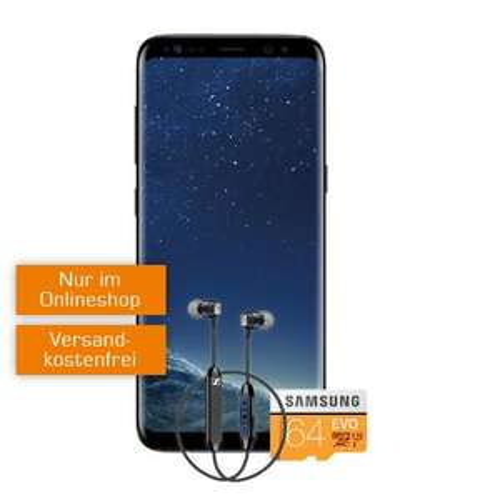 SAMSUNG Galaxy S8 & CX6 & Samsung EVO microSDXC 64GB + Flat Allnet Comfort Aktion