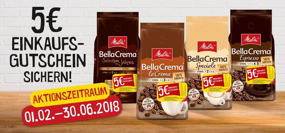 Cashback: Melitta BellaCrema 1000g Bohnen durch Cashback rechnerisch 3,88€. EDEKA KW22