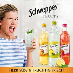 0,30 € Cashback für Schweppes Fruity über Coupies
