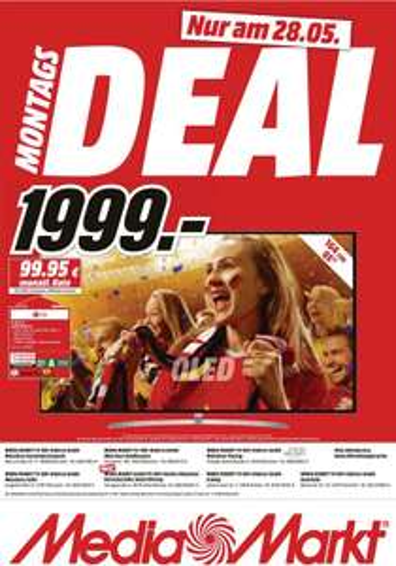 [ lokal München + Umgebung ?! ] LG OLED65B7D OLED TV (Flat, 65 Zoll, OLED 4K, SMART TV, webOS) für 1999€ @ Media Markt