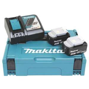 MAKITA Akku Power Source Kit 4Ah mit 2 x BL1840 + 1 x DC18RC für 143,99€ [Screwfix]