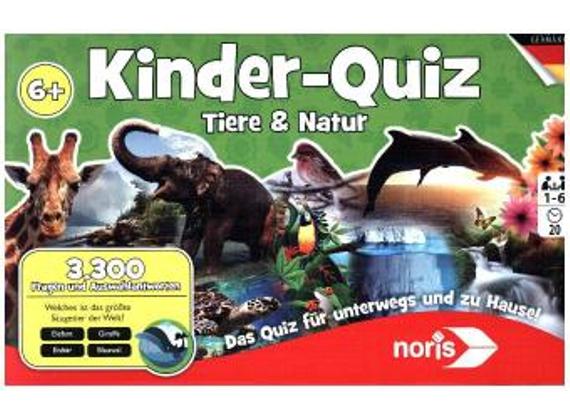 """[Dodax und Amazon Plus] Noris Spiele 606011629 -""""Kinderquiz Tiere & Natur Kinderspiel"""
