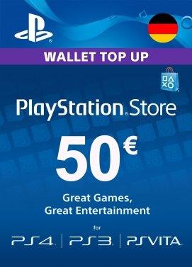 Playstation Network Guthaben 50€ DE