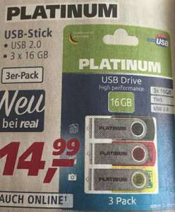 PLATINUM 3x 16 Gb USB 2.0 Stick