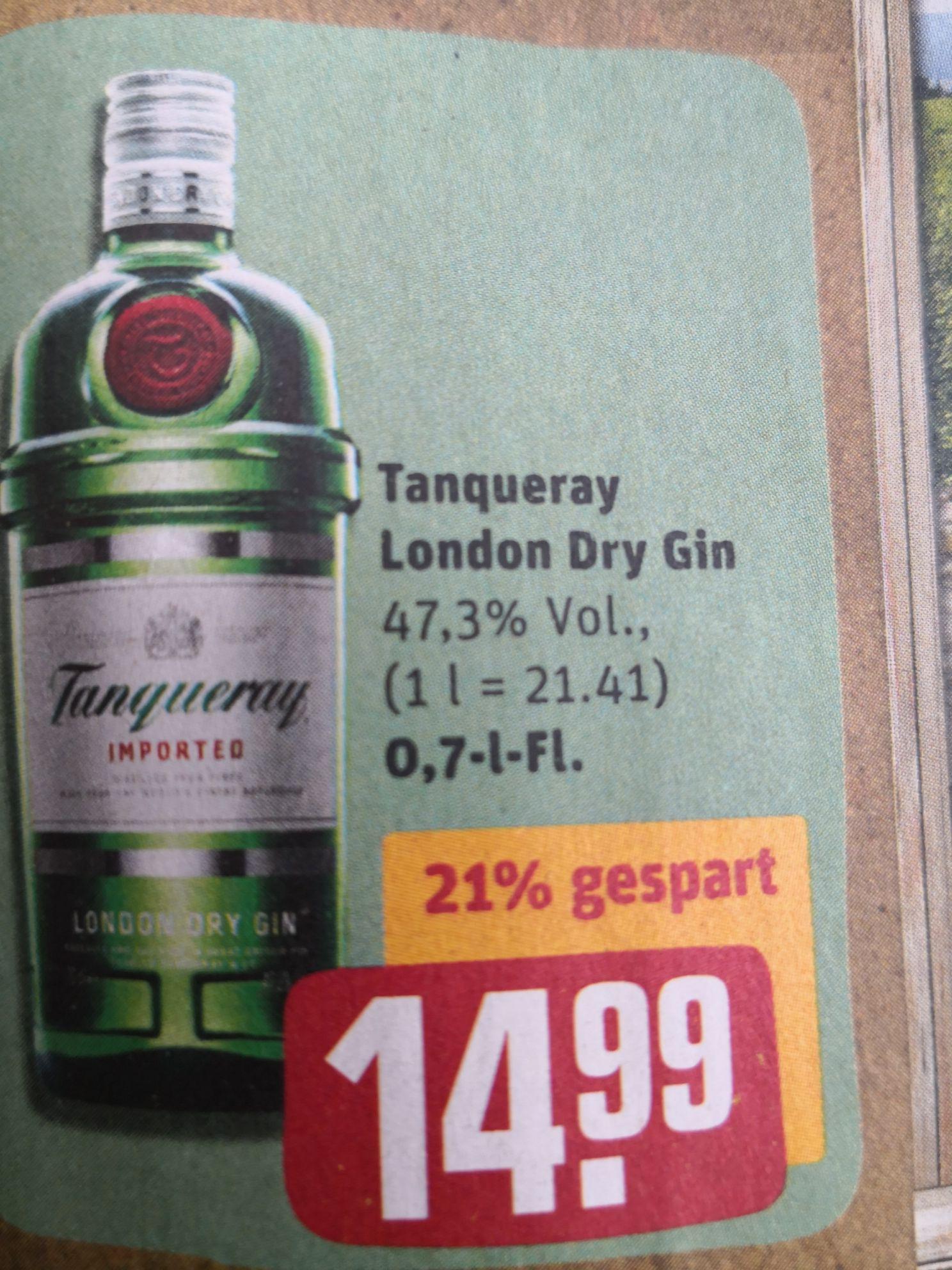 Tanqueray London Dry Gin bei Rewe, ganz altmodisch Offline
