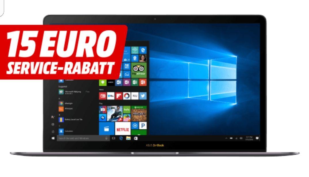 [Media Markt] ASUS ZenBook Deluxe UX490UA, Notebook mit 14 Zoll Display, Core™ i7 Prozessor (7. Gen.), 16 GB RAM, 512 GB SSD, HD-Grafik 620, Quartz Gray