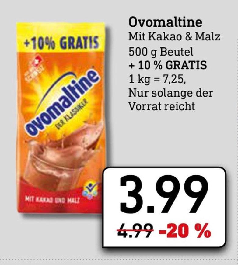 Ovomaltine || Malz-Kakao-Getränkepulver || 550g || 3,99€ || [Diska Sachsen/Thüringen/Oberbayern]