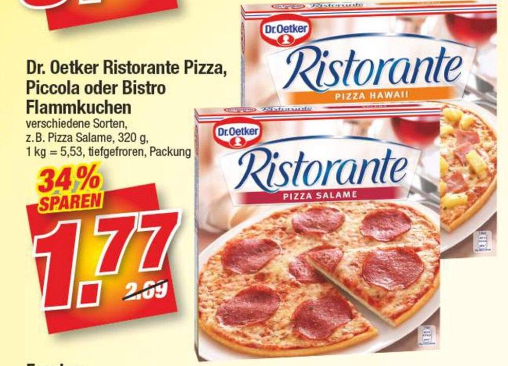 Dr. Oetker || Ristorante Pizza || versch. Sorten || 1,77€ || Marktkauf