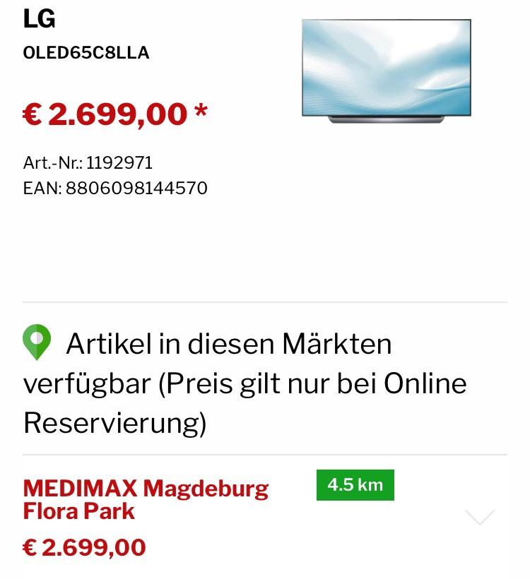 LG OLED 65 C8