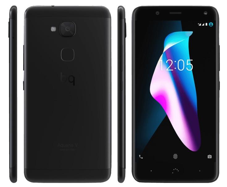 BQ Aquaris V - Android Nougat 7.1.2 (Oreo in Entwicklung), 16 GB interner Speicher, 2 GB RAM, Snapdragon 435, 12 MPX Kamera, Dual-SIM Hybridslot, Fingerabdruckscanner, Polycarbonat/Metall Gehäuse