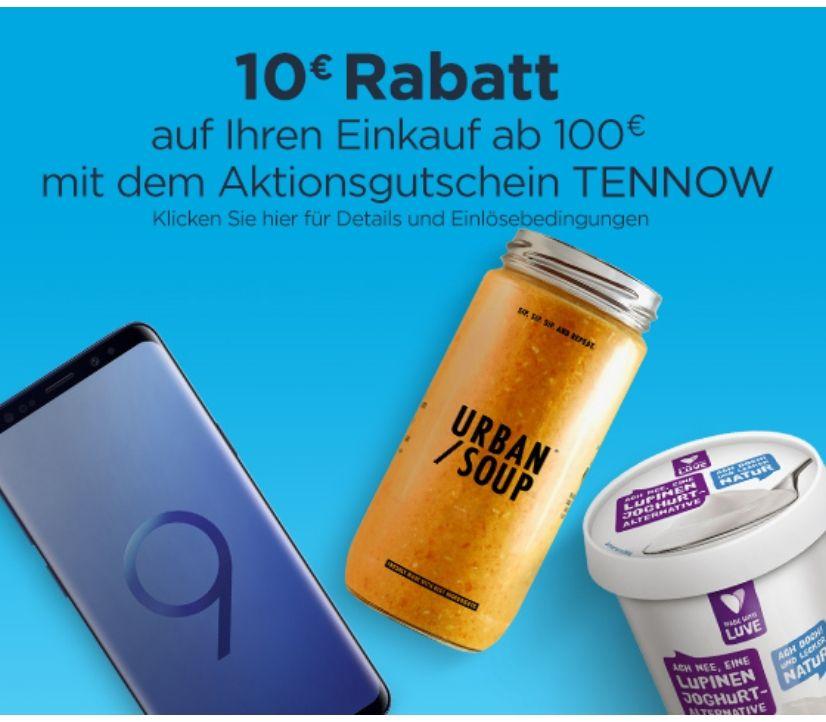 [PrimeNow]10€ auf Ihre nächste Bestellung ab 100€ mit dem Code: TENNOW