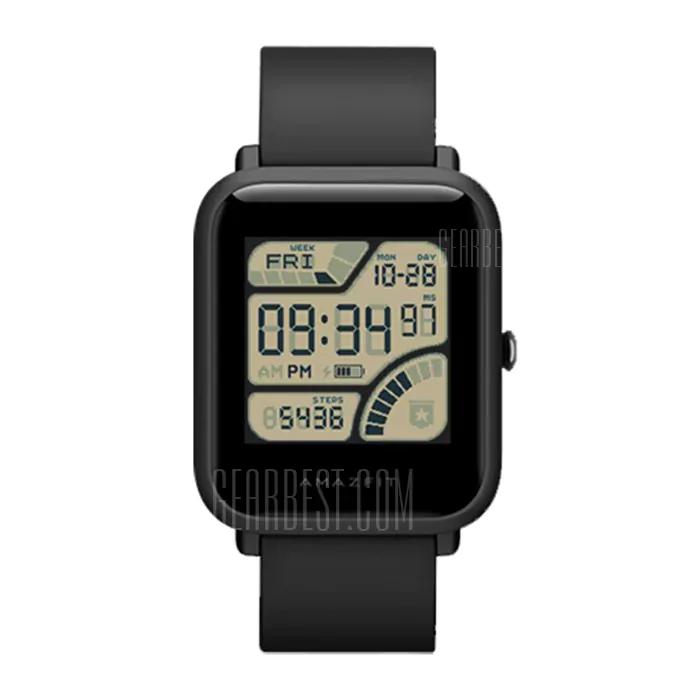 Xiaomi Huami Amazfit Bip Lite INTERNATIONAL VERSION BLACK – Smartwatch mit Schlafanalyse, Wetterfunktion & Notifcations - Gearbest