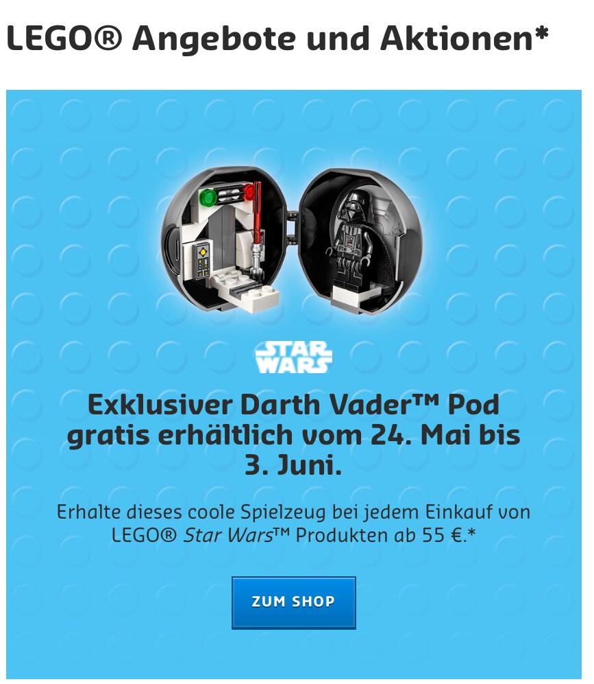 [Lego] Exklusiver Darth Vader Pod gratis zu Star Wars Produkten ab 55€