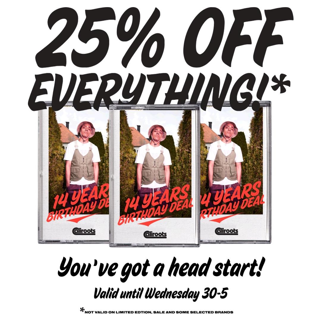 Caliroots - 25% auf fast alles (Sale leider ausgenommen)