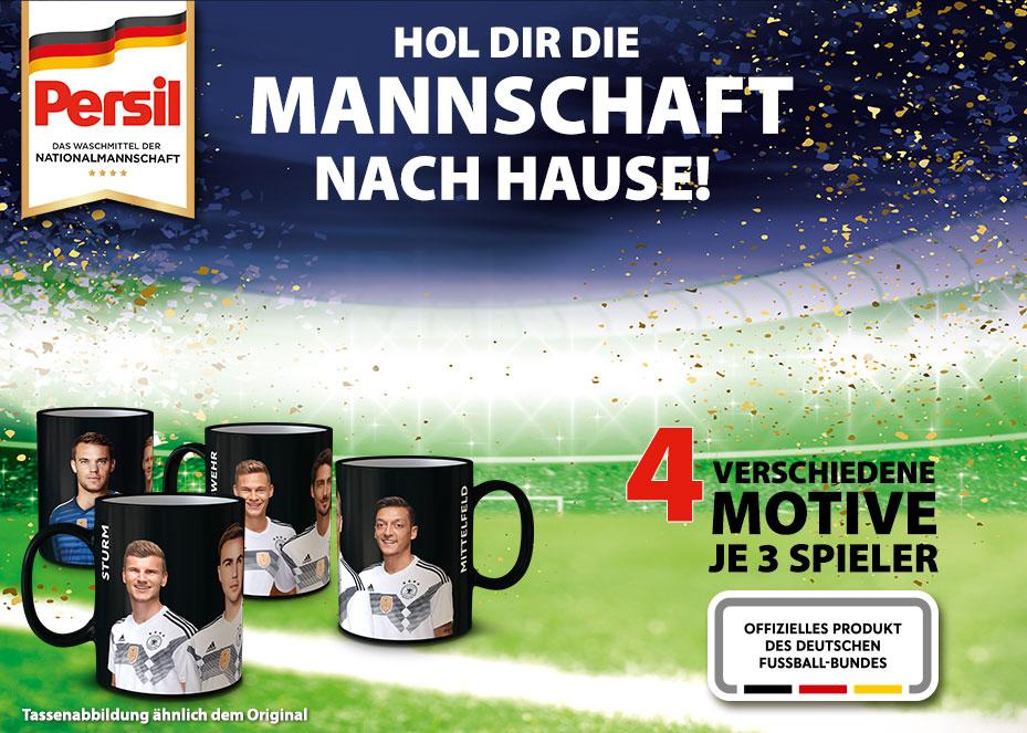 Rossmann: Bei Kauf von 2 Packungen Persil 1 DFB-Tasse gratis