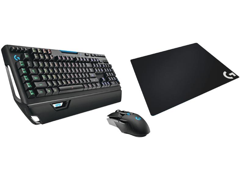 LOGITECH Gaming Pro Bundle (G910, G900, G640) Gaming Tastatur + Gaming Maus + Mauspad, Schwarz