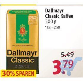 500 Gramm Dallmayr Kaffee für 3,41€ bei Rossmann