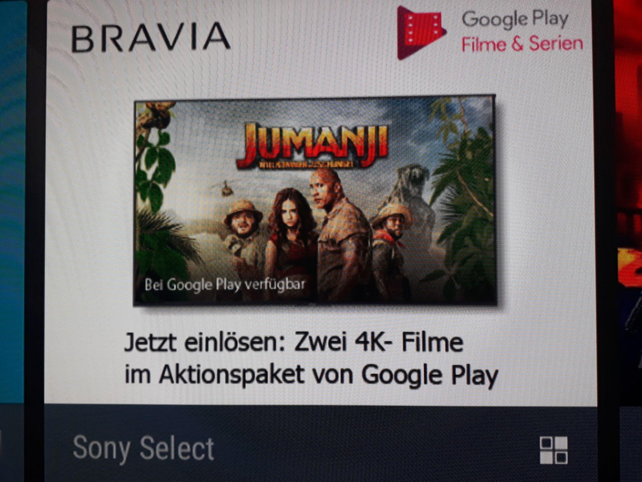 Zwei 4K UHD Filme kostenlos bis 12/2019 (u.a. Bladerunner 2049) [Google Play & Sony BRAVIA]
