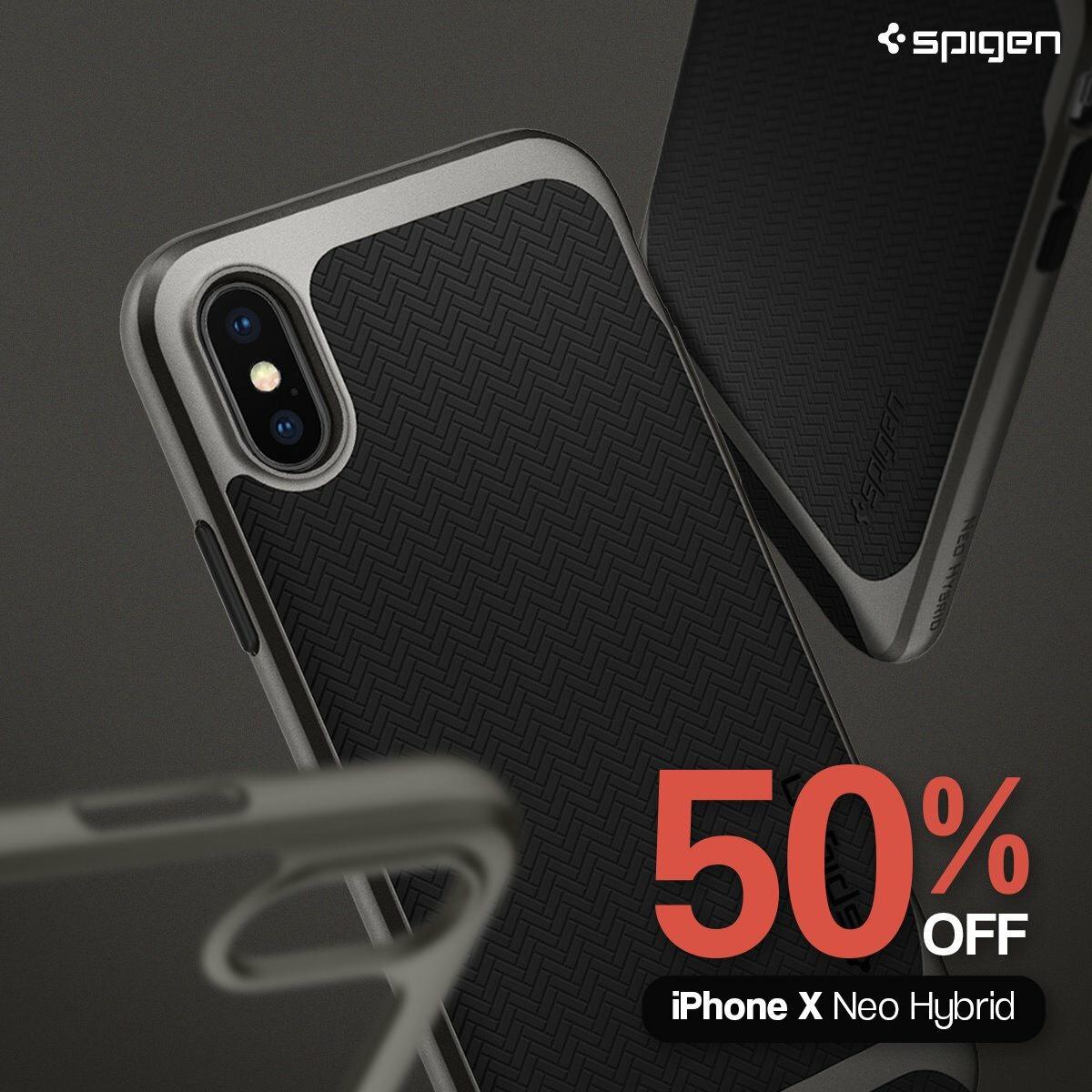 50% auf Spigen Neo Hybrid Hülle in Gunmetal für IPhone X