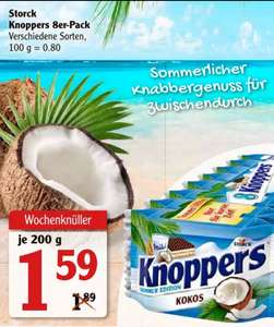 Knoppers Kokos Limited Edition 8er Pack  200g 1,59€ (Globus und Penny)