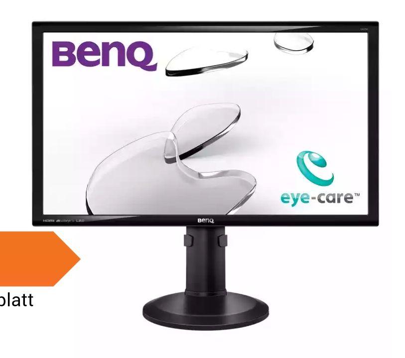 BenQ GW2765HE - 69 cm (27 Zoll), LED, IPS-Panel, WQHD, 8bit Farbtiefe, Höhenverstellung, Pivot, Blaulichtfilter, Lautsprecher, DisplayPort