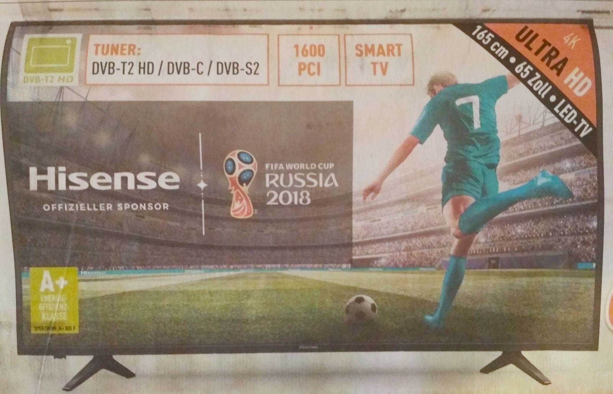 "Hisense H65A6100 65"" UHD TV 60Hz HDR8+FRC Quadcore [Lokal Berlet NRW 699€ oder online 738,90€ inkl. Versand]"