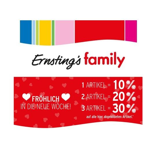 Ernsting´s Family bis zu 30% Rabatt auf ausgewählte Artikel!
