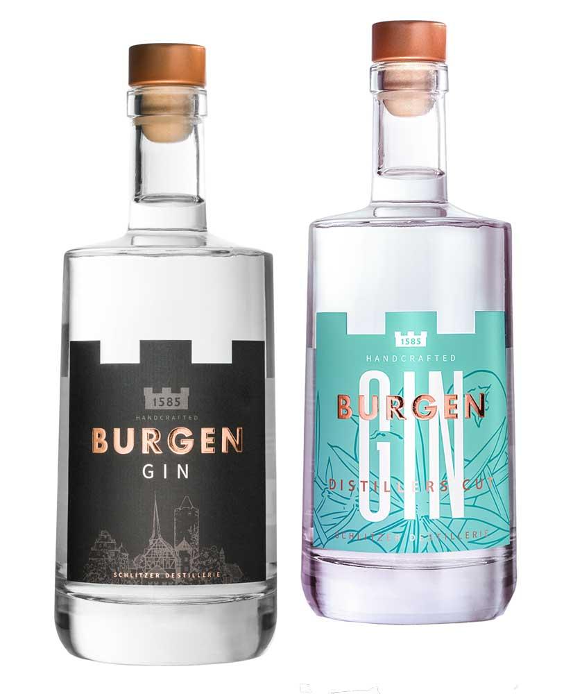 Burgen Gin Set 1x Distillers Cut 0,5l & der normale Gin 0,5l @54,80 inkl. Versand (Wacholder Express)