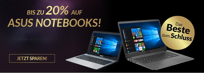 ASUS Notebooks bis zu 20% rabattiert