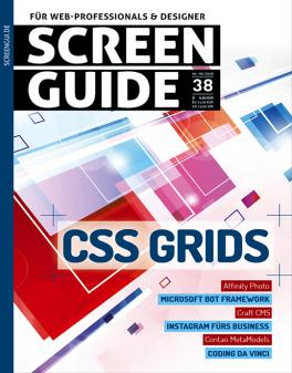Screen Guide Abo für 1 Jahr (4 Ausgaben) mit 10€ ShoppingBon (inkl. Amazon) oder mit Zeiss Virtual Reality Brille One plus (i.W.v. 53,99€) für 35€ 