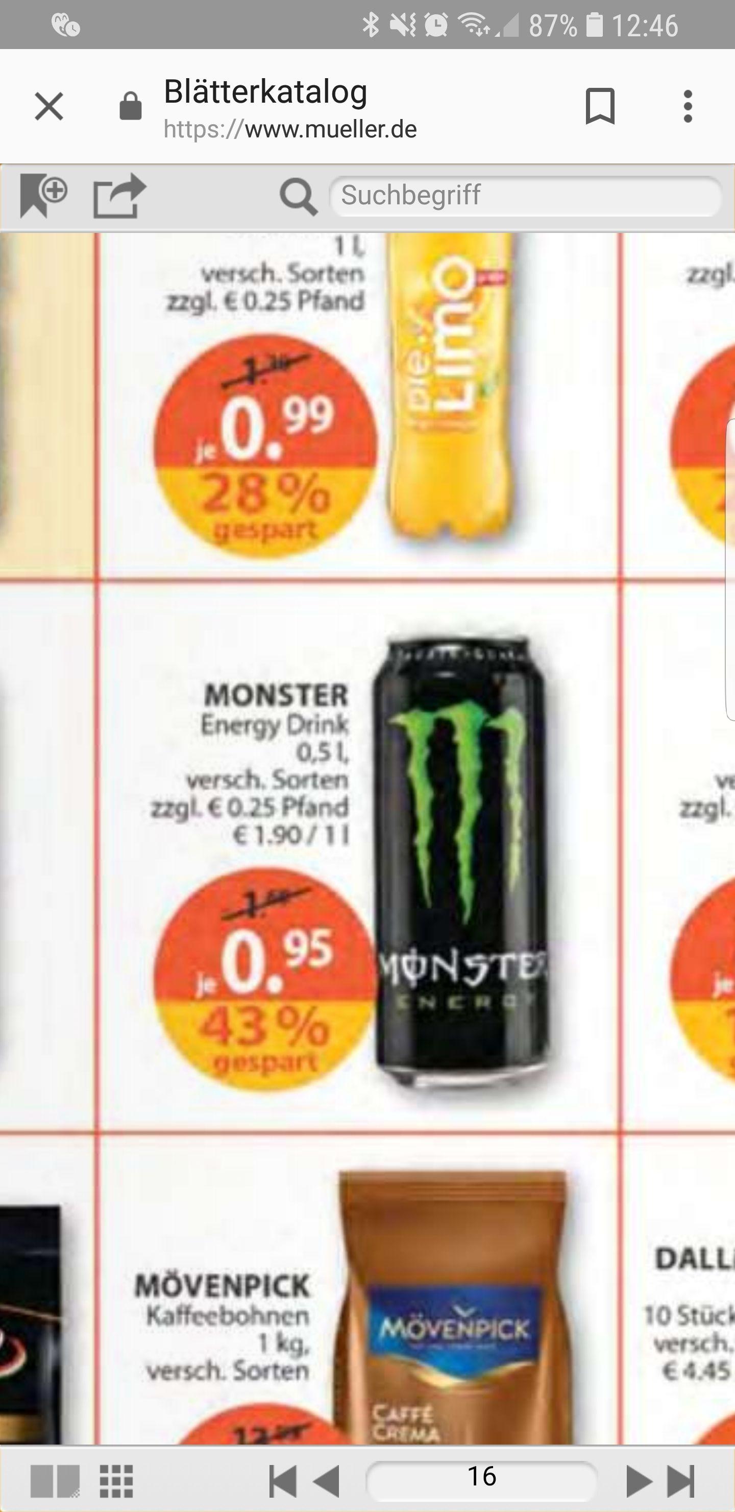 Monster Energy Drink 0,5l [Müller Offline]