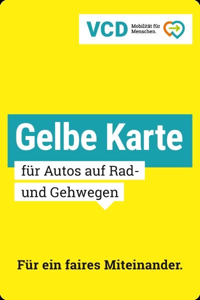 gratis Gelbe Karten für Falschparker