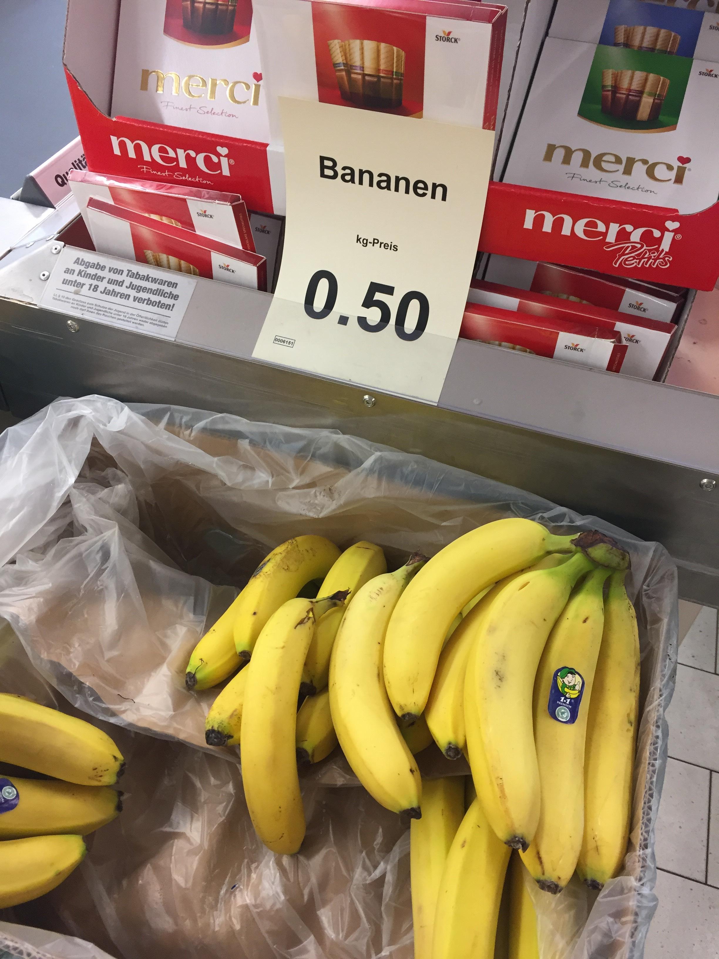 (LOKAL) Berlin Lichterfelde Bananen bei Aldi 0,50€