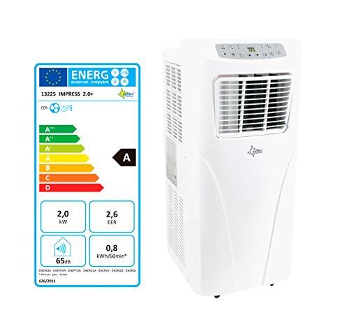 [Amazon.de] SUNTEC Monoblock mobiles Klimagerät IMPRESS 2.0+ für Räume bis 25m² - kühlen und entfeuchten, 7.000 BTU/h, EEK A für 120€ statt 200€ Idealo