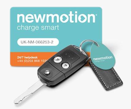 kostenlose Ladekarte bzw. Schlüsselanhänger für Elektroautos bestellen