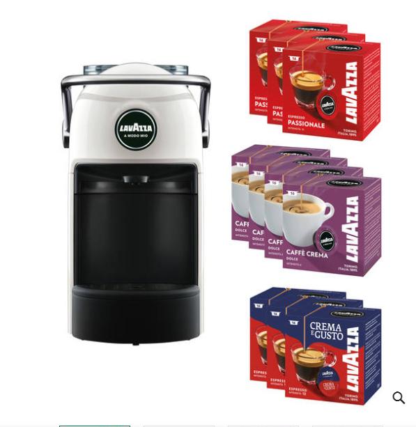 Lavazza A Modo Mio Kapselmaschine Jolie für 1 € beim Kauf von 10x 16 Kaffee-Kapseln
