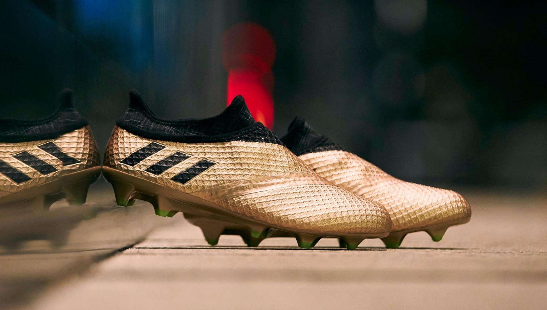 adidas Messi 16+ Pureagility FG in gold