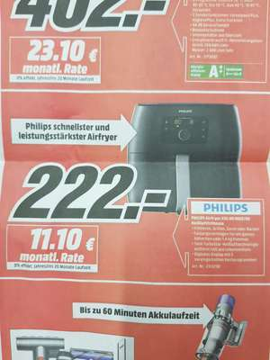 Philips Airfryer XXL HD9652/90 Lokal Media Markt Gütersloh