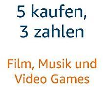 5 für 3: Filme, Musik & Video Games @ amazon