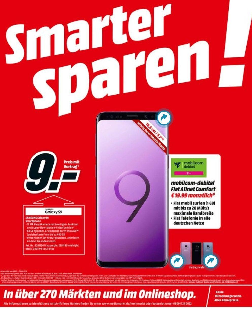 Lokal Ulm MM Galaxy S9 Schubladenvertrag