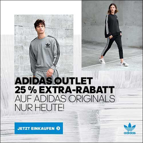Nur heute 25% extra Rabatt auf den gesamten adidas Originals Outlet + Paypal Cashback + gratis Versand