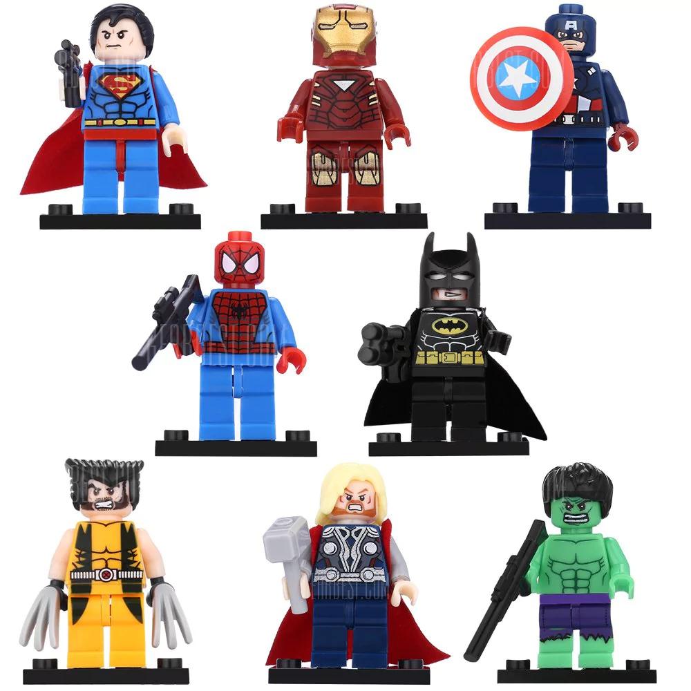 "[GearBest] ""LEGO""-Nachbau: Comichelden-Actionfiguren-Set"