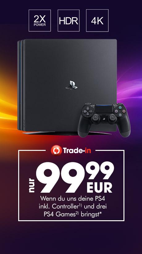 [Gamestop Trade In] Playstation 4 Pro für 99,99€ bei Abgabe einer PS4 (500GB oder 1TB] inc Controller und 3 PS4 Games