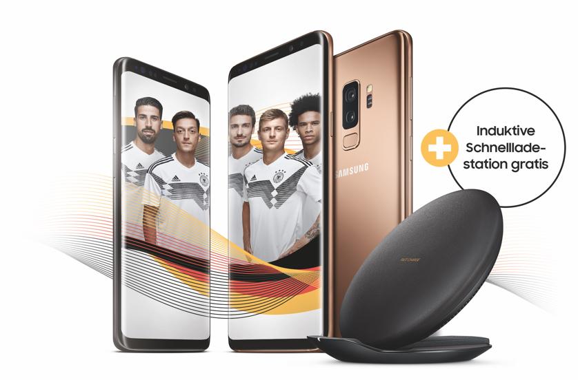 Induktive Schnellladestation gratis bei Kauf von Galaxy S9/S9+ (auch bei Vertragsangeboten - Samsung EP-PG950), EAN zu beachten