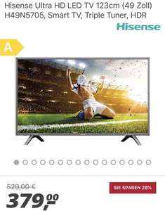 Hisense Ultra HD LED TV 123cm (49 Zoll) H49N5705 für 379,- €  ||  Smart TV, Triple Tuner, HDR