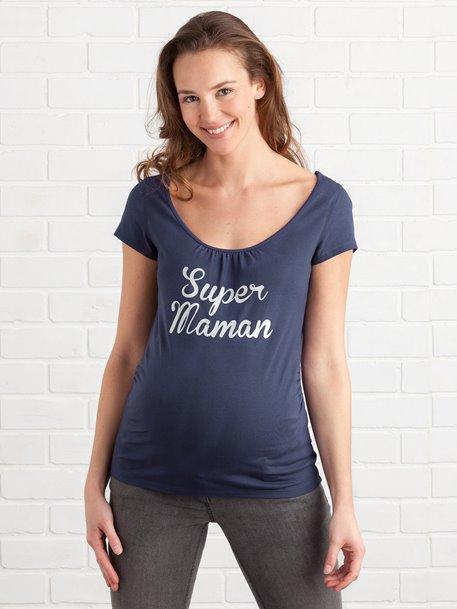 Umstands-Shirt aus weichem Stretch-Stoff bei [vertbaudet]