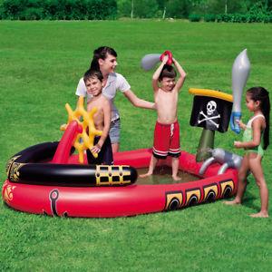 Piratenschiff Kinder Planschbecken für den Garten