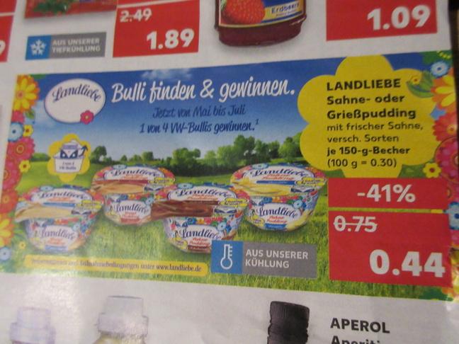 Kaufland ab dem 04.06 - 06.06 Landliebe 6x mir Coupon 0,27 Euro je / Wagner Steinofenpizza