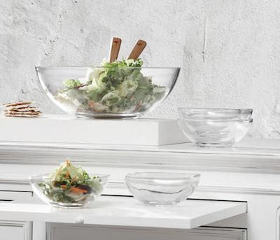 5-teiliges Schüsselset von Nachtmann + Salatbesteck aus Akazienholz