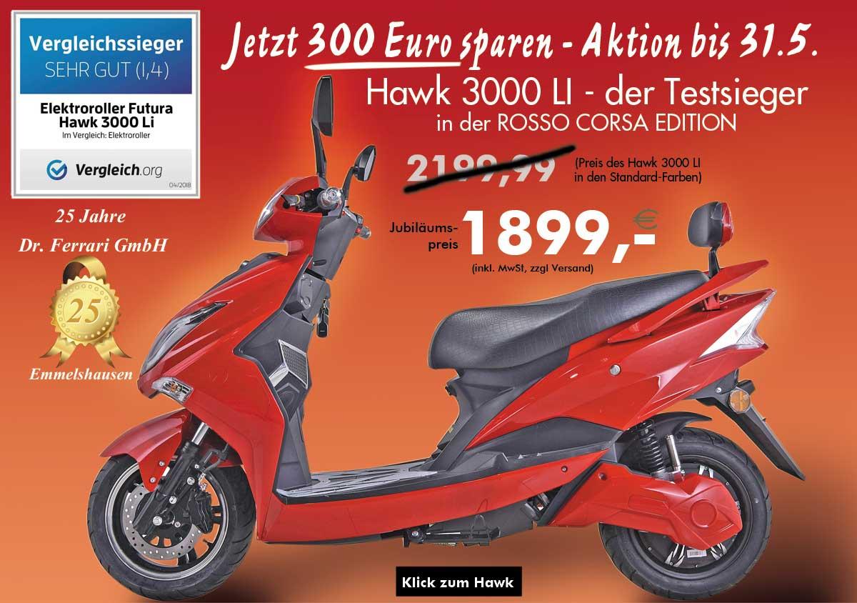 Elektroroller 45 kmh - 300 Euro sparen